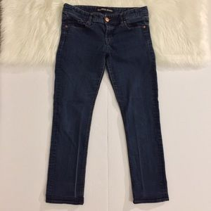Express Cropped Skinny Stella Low Rise Jeans